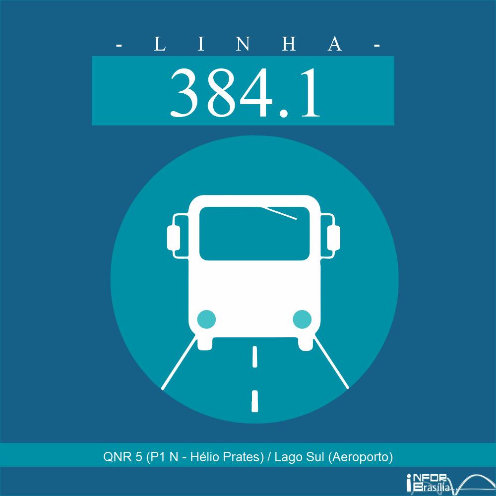 Horário de ônibus e itinerário 384.1 - QNR 5 (P1 N - Hélio Prates) / Lago Sul (Aeroporto)