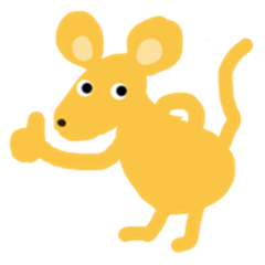 Yellow small mouse