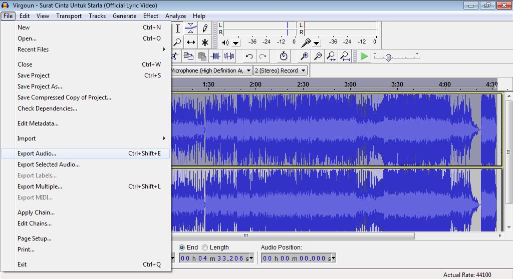 Mengubah Lagu Menjadi Karaoke Dengan Audacity Glozaria