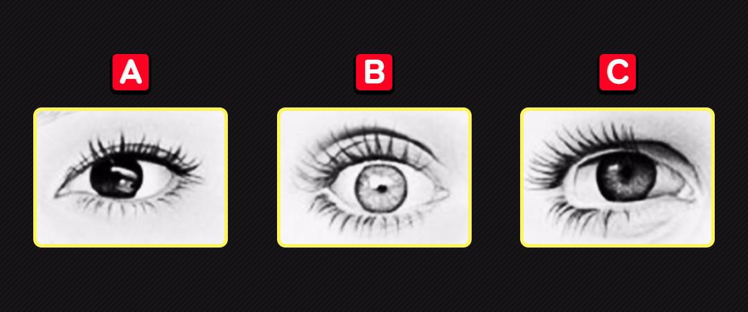 Qual é o olho de uma pessoa brava?