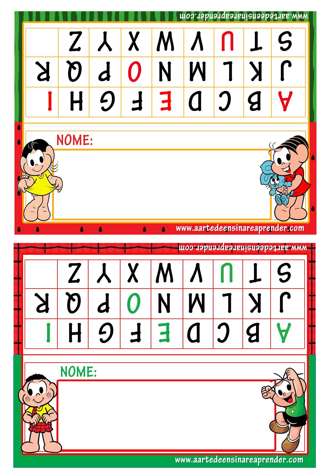 Suficiente Crachás de mesa - Turma da Mônica - A Arte de Ensinar e Aprender SH98