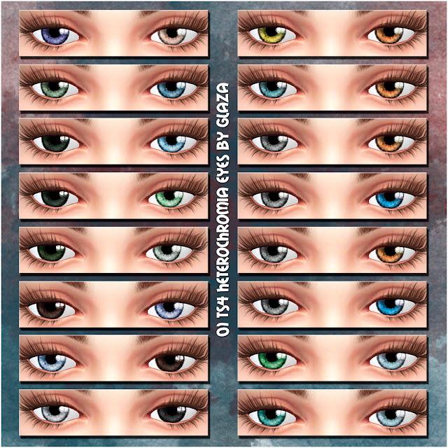 01 TS4 heterochromia eyes by glaza