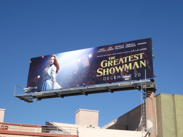Greatest Showman movie billboard