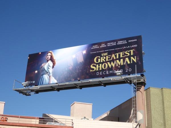 Greatest Showman movie billboard