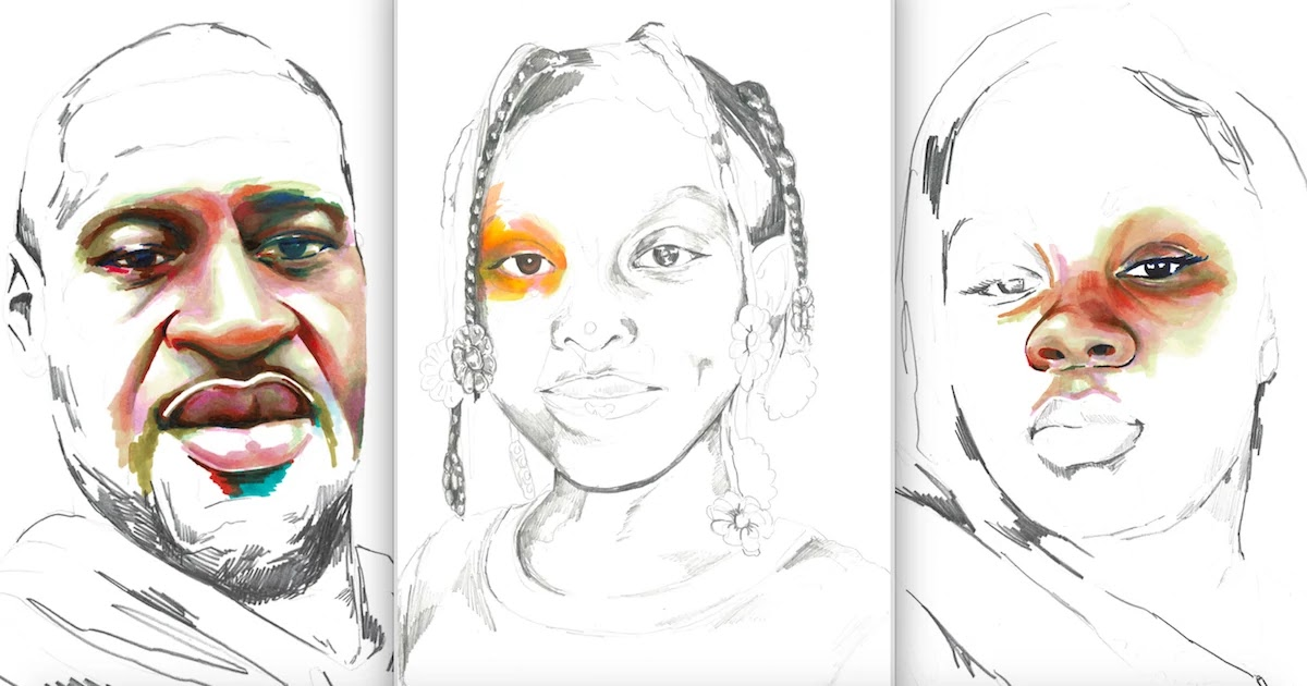 These Beautiful Portraits Resemble Black Lives Lost To Police Violence With Every Minute Of Color Representing 1 Minute Of Life