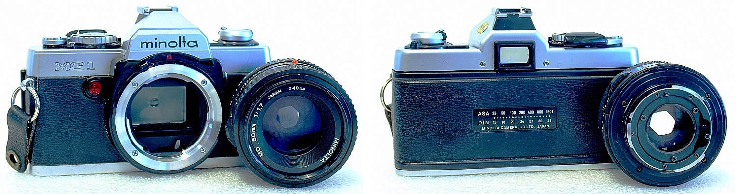Minolta XG-1 (Chrome) Body #780, Minolta MD 50mm 1:1.7 #702