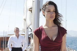 Bérénice Marlohe as Sévérine in Skyfall, directed by Sam Mendis, starring Daniel Craig as James Bond