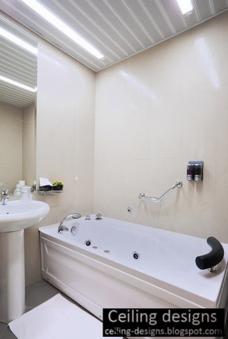 Texture Bathroom Ceiling Designs