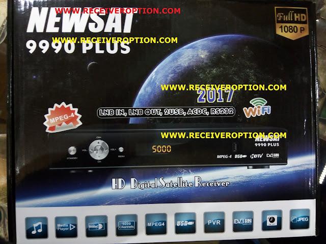 NEWSAT 9990 PLUS HD RECEIVER CCCAM OPTION
