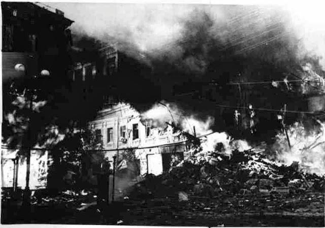 1941 год, Киев, Крещатик, пожар