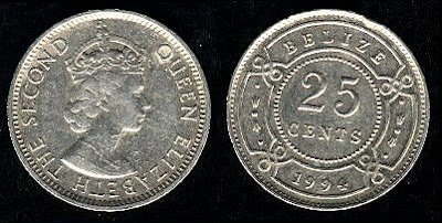 Belize  25 Cents (1974-1991) 1981 Coin