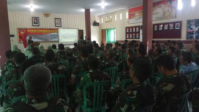 Kegiatan pembinaan Netralitas TNI dalam Pileg/pilpres Kodim 0736/Batang TA.2019