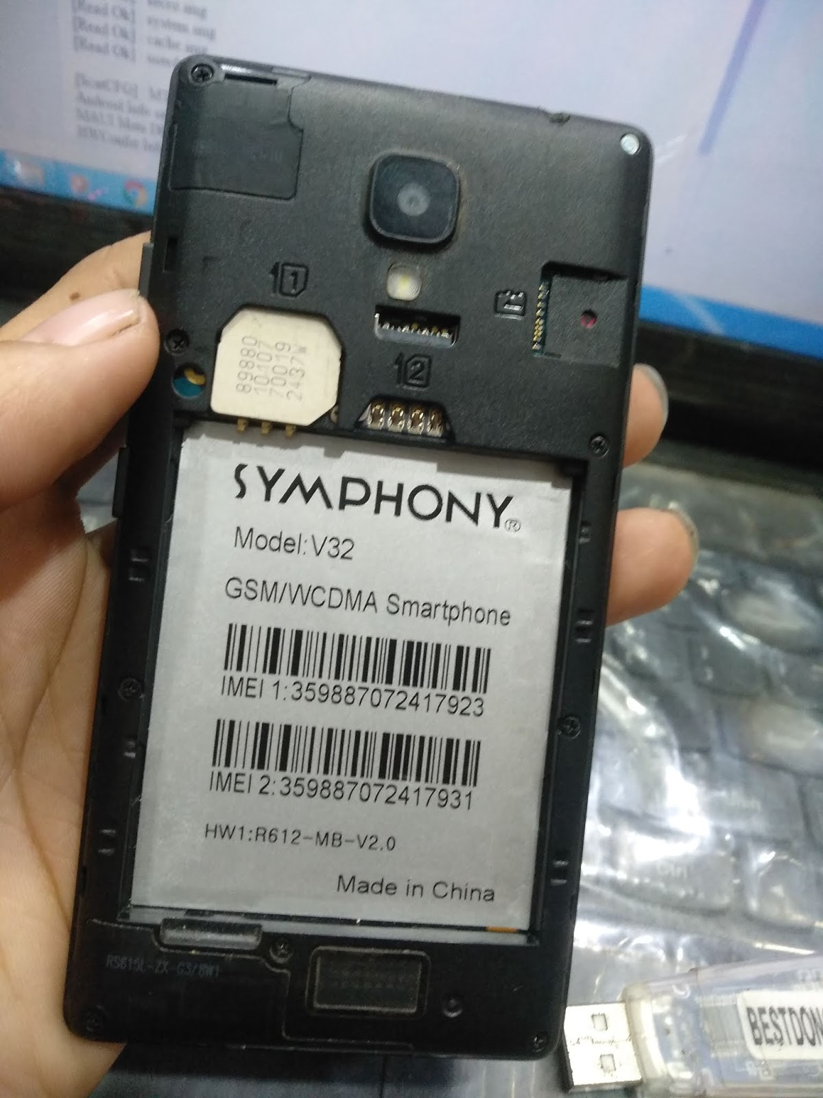Symphony V32 Flash File Without Password - All Chaina