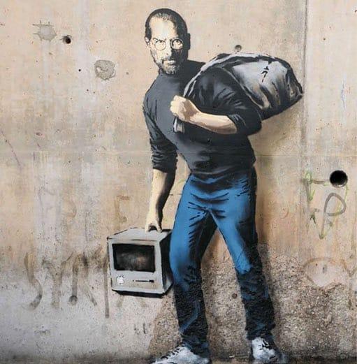 謎のアーティスト?バンクシーの現代を風刺する落書きアート【art】移民スティーブ・ジョブズ
