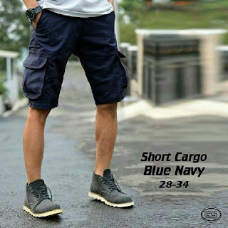 celan acargo pendek, celana cargo pria, celana pendek pria