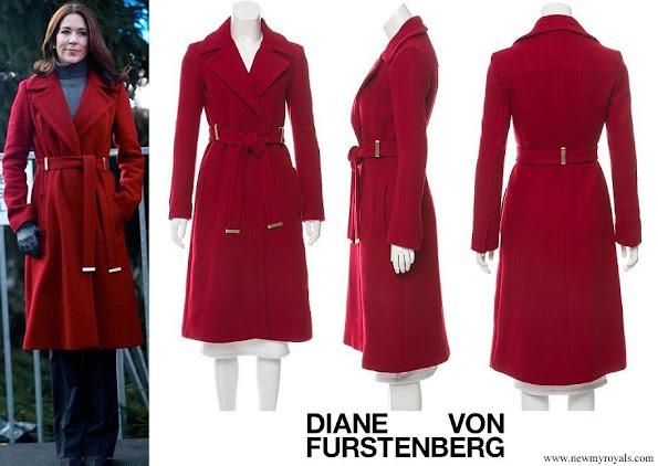Crown Princess Mary wore Diane von Furstenberg Mikhaila red Jacket