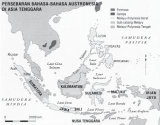 Peta Persebaran Bahasa Austronesia