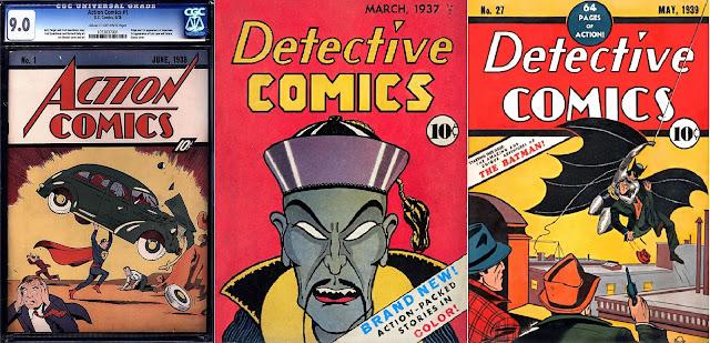 Nicolas Cage komiksy Detective Comics 27, Action Comics no 1