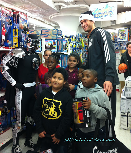 Brooklyn Knight and Kris Humphries shopping with the kids at #CookiesKids