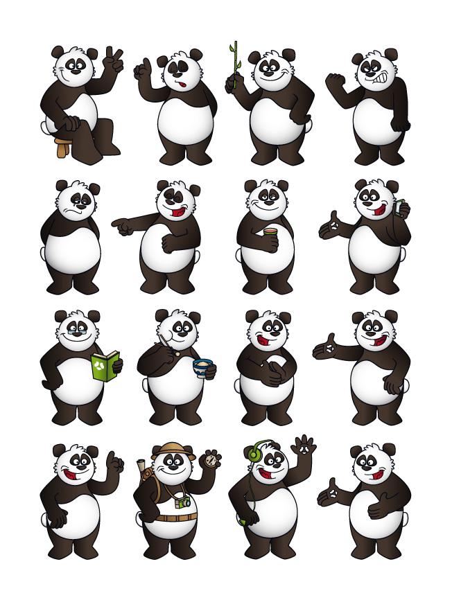 Création personnage panda Pangaya