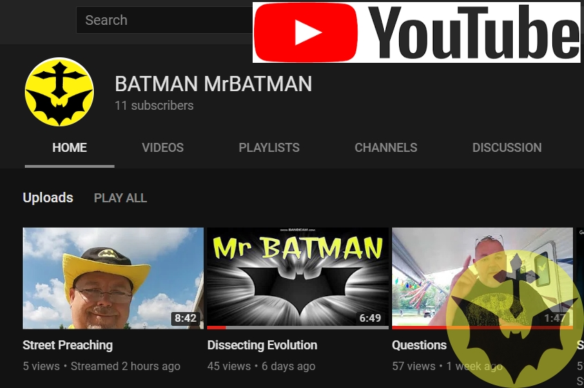 MrBATMAN on YouTube!