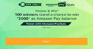 Amazon Pay Quiz amazon today quiz