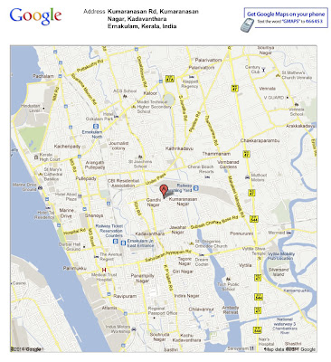 Villa Location Kochi Map