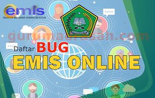 Daftar Bug di Aplikasi Emis Online