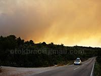 najveći požar otok Brač slike