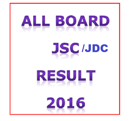 JSC Exam Result 2016 - All Board - www.educationboardresults.gov.bd
