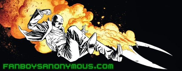 Marvel superhero Moon Knight explosion