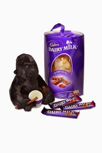 Cadbury Dairy Milk Easter Egg and Gorilla