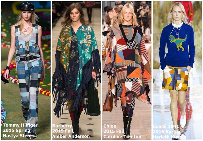 cf. ASOS 2015 Fall Patchwork Suede Button Through Skirt