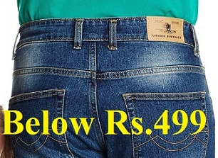 Men's Jeans below Rs.499 @ Amazon