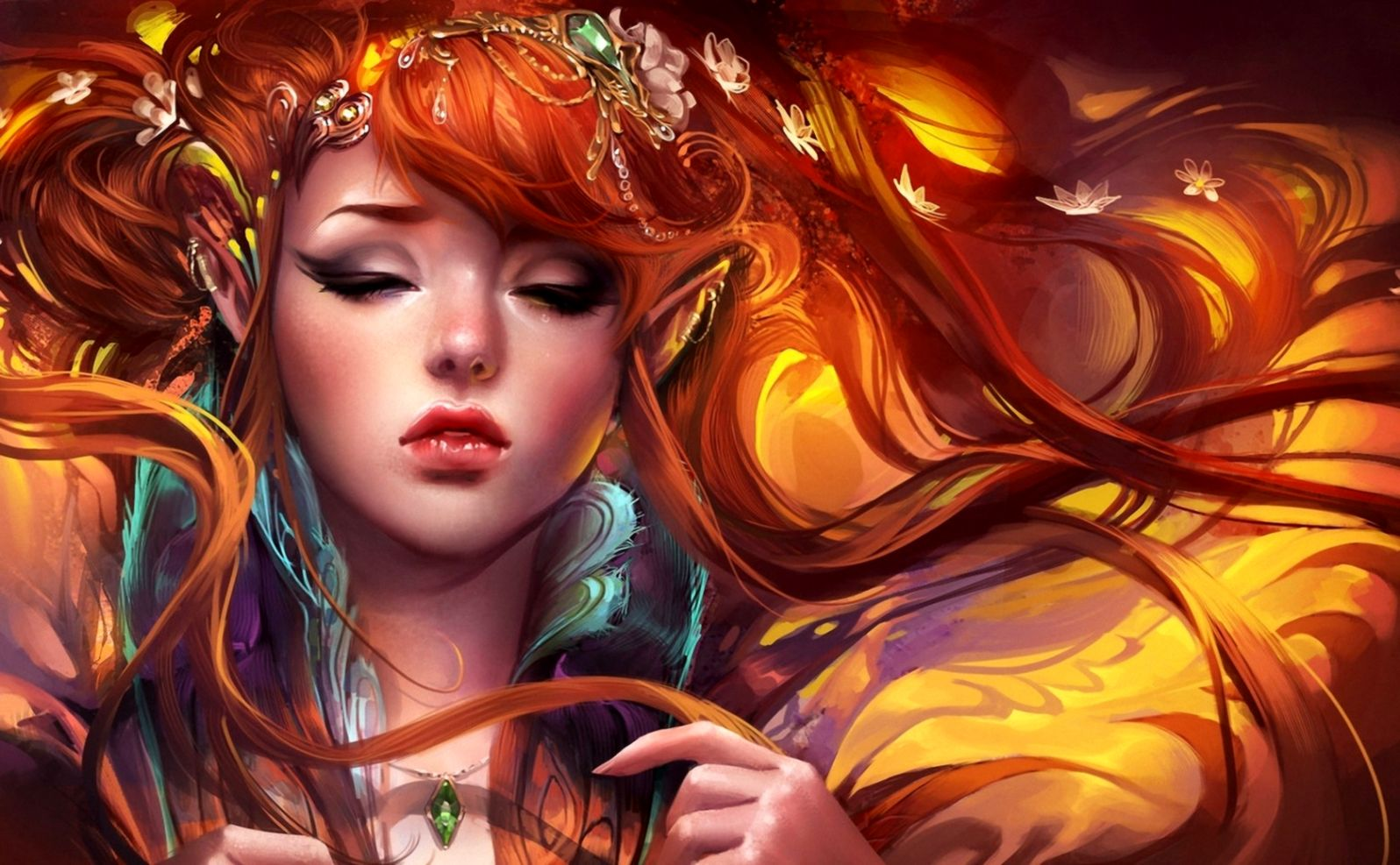 Digital Art Fantasy Woman Wallpaper