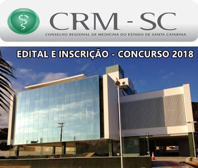 edital Concurso CRM SC 2018