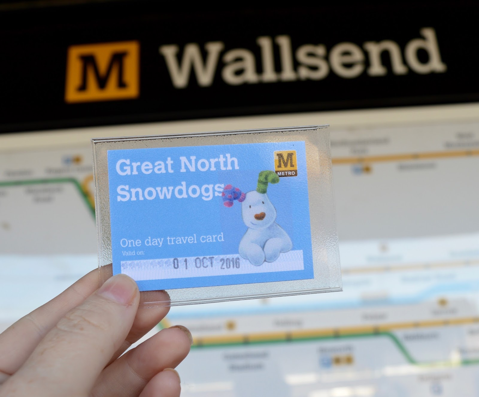 Explore the Great North Snowdogs with Tyne & Wear Metro - one day travel card
