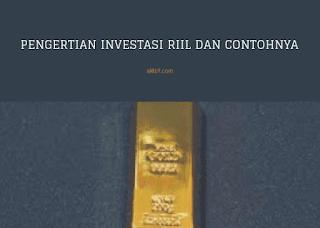 Pengertian Investasi Riil dan Contohnya