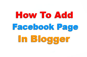 How To Add Facebook Page In Blogger/Website