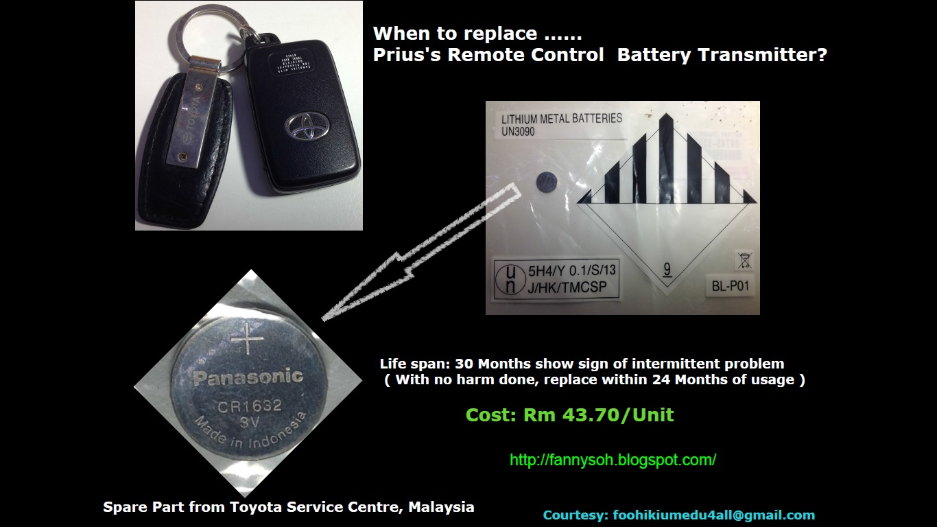 Green Energy In Malaysia When To Replace Toyota Prius S Remote