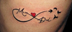 Ilove mom i love Dad tattoo love