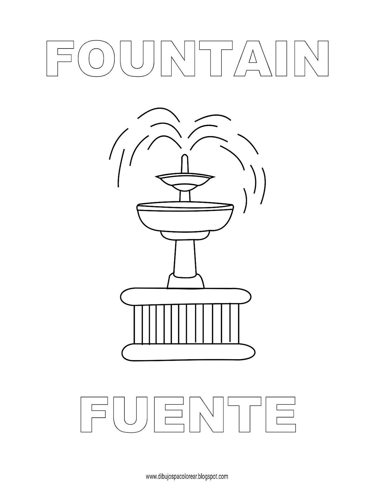 Dibujos Inglés Español Con F Fuente Fountain