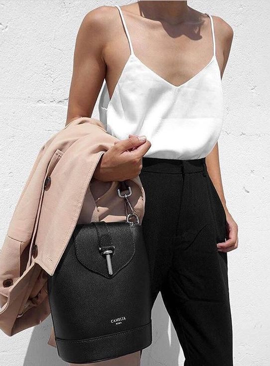 spring outfit with nude details