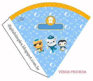 The Octonauts  Free Printable Cones.