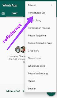 Cara menampilkan foto pada chat whatsapp pribadi atau grup