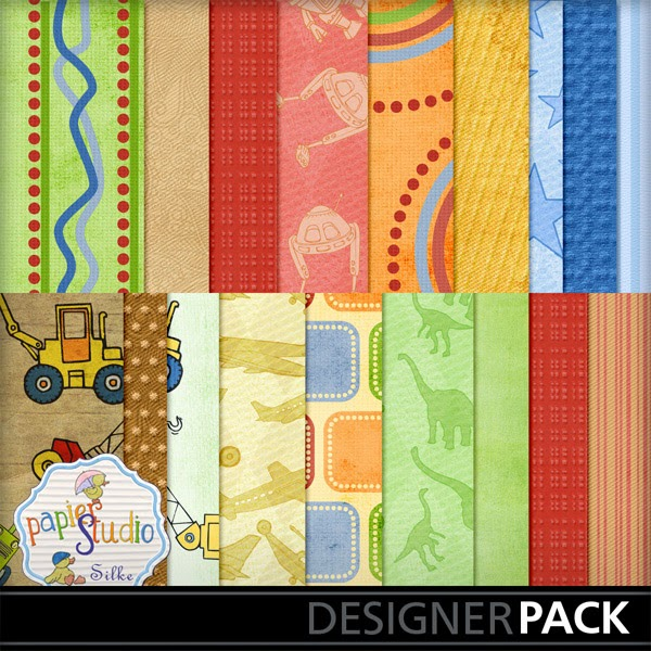 Little Boys Playroom Scrapbooking Kit