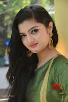 Akshitha cute beauty in Green Salwar at Satya Gang Movie Audio Success meet ~  Exclusive Galleries 033.jpg