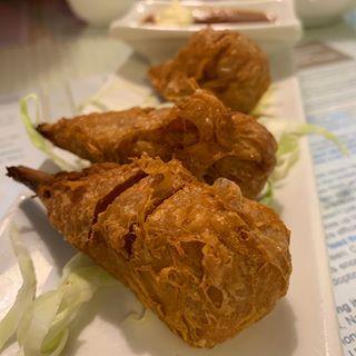 vegan fried chicken drumsticks from Loving Hut