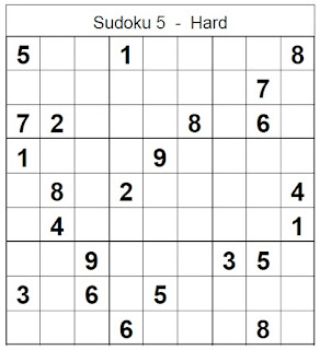 photo regarding Hard Sudoku Puzzles Printable titled Printable Sudoku Tough Puzzle No 5 - Sudoku Demanding Puzzles