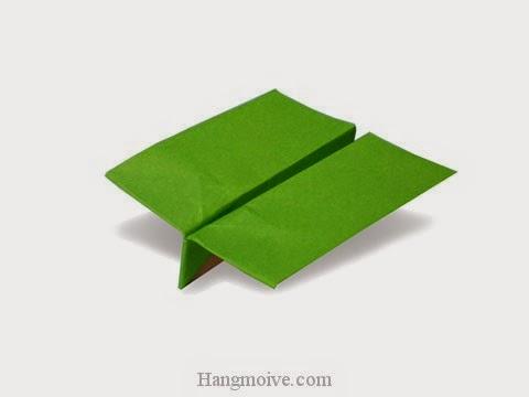 Cách gấp, xếp máy bay cánh to bằng giấy origami phi xa, cao, bay lâu mãi không rơi - Video hướng dẫn xếp hình máy bay - How to fold a paper airplane 10